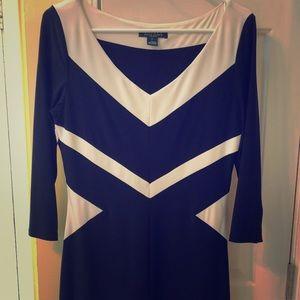 Navy and White Ralph Lauren Wear-to-work Dress